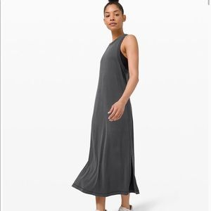 Lululemon Ease of It All Dress Graphite Grey Midi